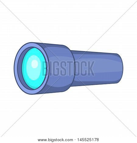 Monocular icon in cartoon style on a white background