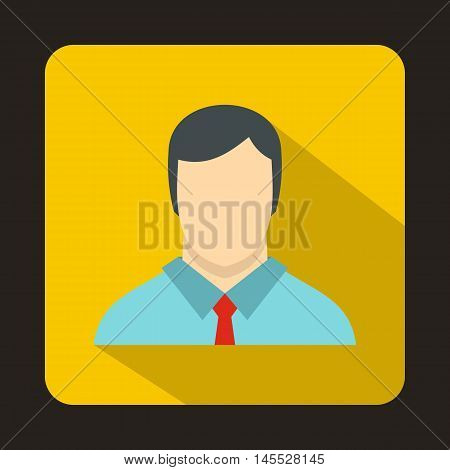Buisnessman icon in flat style isolated with long shadow