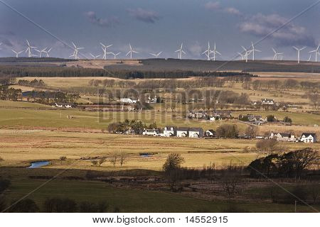 Whitelee Windfarm from Drumclog