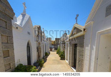 Inside The Marine Cemetery Of Bonifacio, Corsica