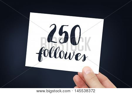 250 followers concept