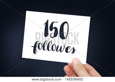 150 followers concept