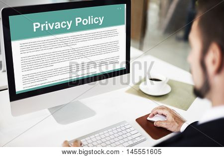 Privacy Policy Service Documents Terms of Use Concept