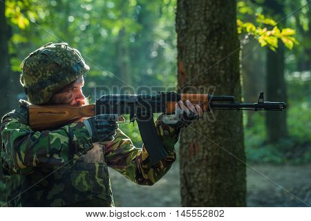 Sniper Soldier With Rifle