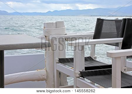 Nea Anchialos - The Greek sea after storm