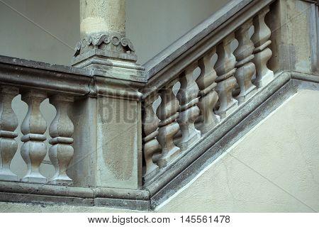 Stone Balustrade Of Parapet