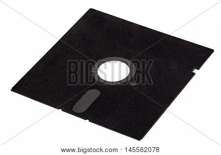 Old diskette 5 25 inches isolated on white background