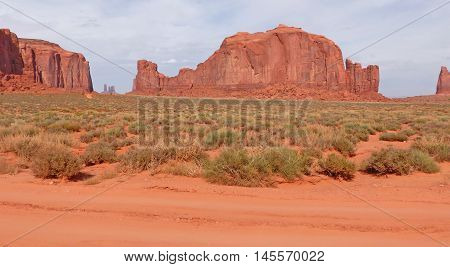 rock formations in Monument Valley in Utah in the United States