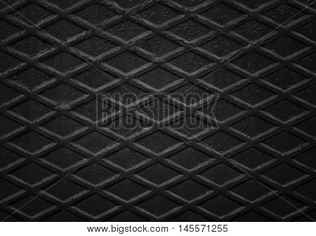 Black non slip steel texture. Background of metal.