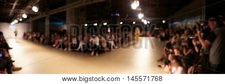 Fashion Show, Catwalk Event, Runway Show themed photo blurred on purpose.
