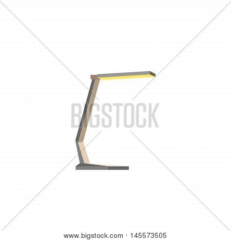 Cartoon style table lamp. Image of reading-lamp. Flat Vector illustration