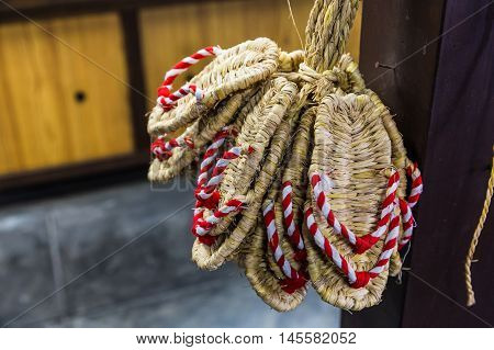 Zori - Traditional Japanese sandals made of rice straw