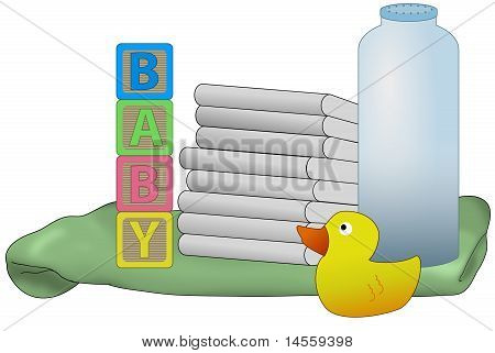 Baby Diapers Illustration