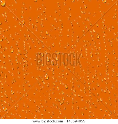 Water transparent drops seamless pattern. Rain drops. Condensed water background. Water drops scattered across the surface. Water drops seamless background. Vector illustration