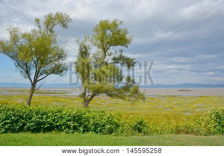 Saint Jean-Port-Joli Quebec Saint Lawrence river bank