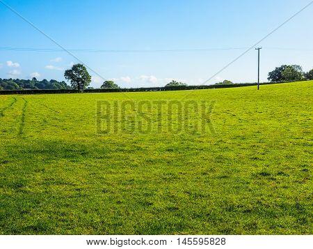 High dynamic range HDR English countryside in Tanworth in Arden Warwickshire UK