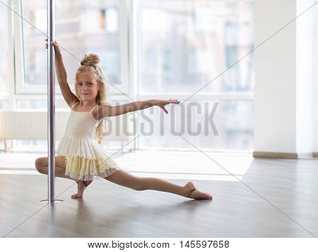 Beautiful Little Dancer In A Dance Studio