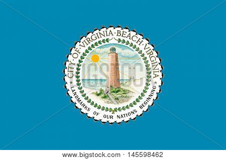 Flag of Virginia Beach is city in state of Virginia USA