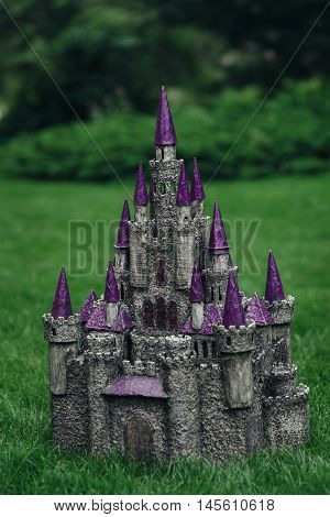 Beautiful medieval handmade castle. Made of papier-mache