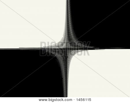 Black & White Background - Abstract Digital Illustration