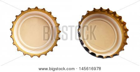 Beer bottle cap, isolated on white
