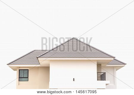 Modern house roof on a white background.