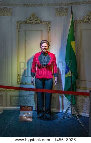 Dilma Roussef Wax Figure At The Wax Museum