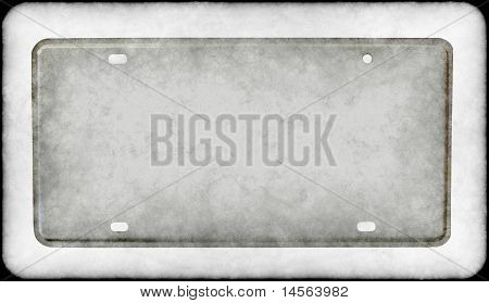 Grungy License Plate
