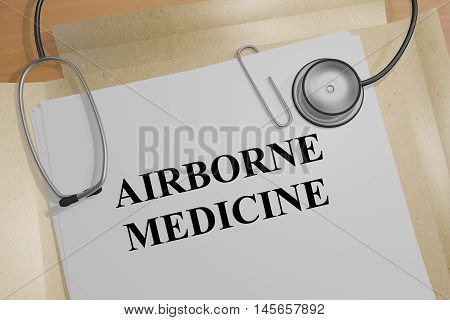 Airborne Medicine - Medical Concept