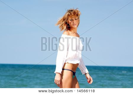 Pretty woman on the beach