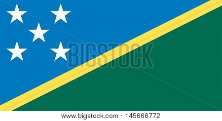 Vector Solomon Islands flag