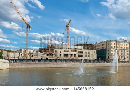 Construction of a new building for the State Tretyakov Gallery Kadashevskaya embankment at the intersection of the alley and Lavrushinsky