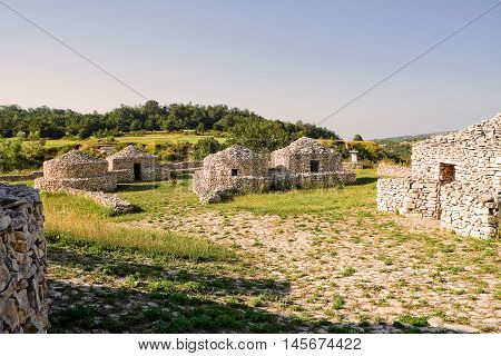 The reconstruction village Paleolithic in Abruzzo (Italy)