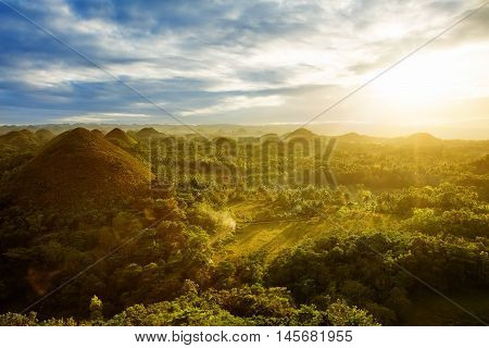 View at the Chocolate Hills. Bohol Philippines