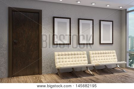 Business Center. The Company's Office. Admissions Director 3D Rendering