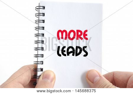 More leads text concept isolated over white background