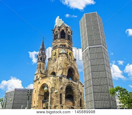 Ruins Of Bombed Church, Berlin Hdr