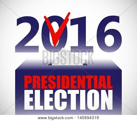 Presidential election illustration. Ballot and politics. Putting voting ballot in ballot box. Voting and election concept. Make a choice image.