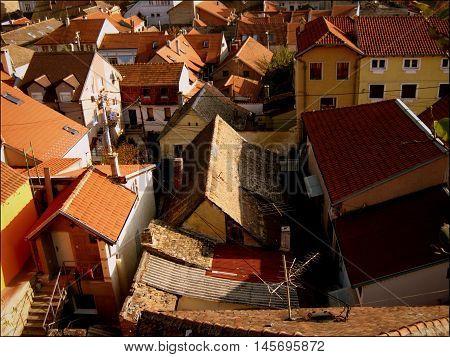 Roofs of Gardos in Zemun (Belgrade, Central Serbia) poster