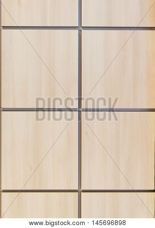 Texture simulated wood panels, modern interior, front side