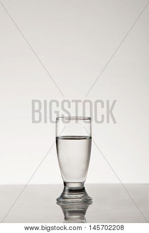 White spirit in a grappa style glass.