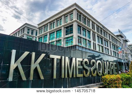 Kota Kinabalu,Sabah-Aug 30,2016:View of KK Time Square at Kota Kinabalu,Sabah on 30th Aug 2016.It is a mostly offices development located next to Imago The Mall,Kota Kinabalu,Sabah.