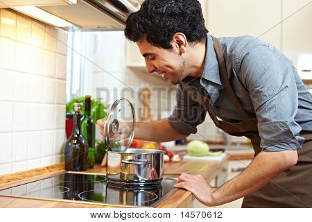 Man Watching A Pot