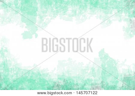 green grunge style water color on white paper background