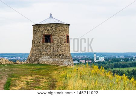 Old tower in Elabuga ancient settlement. Tatarstan. Russia poster
