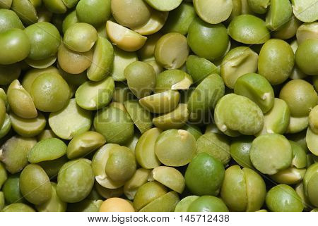 Dried spilt pea background, color image, horizontal image