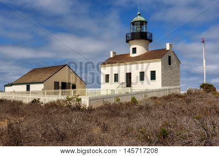 Point Loma Lighthouse at Cabrillo National Monument in San Diego, California