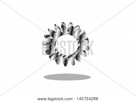 gear silver, teeth, link - Stock illustration