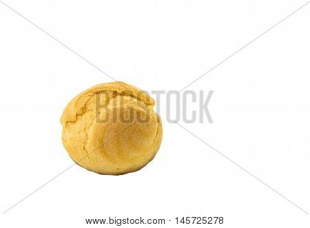 Choux isolated on white background and clipping path