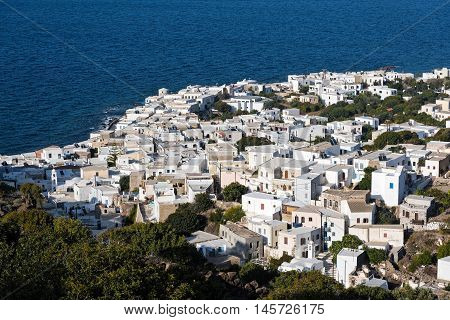 View of the traditional village of Mandraki in Nisyros island, Greece